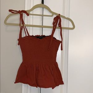 Cropped Tank with Shoulder Ties